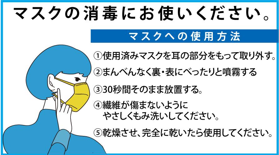 ウイルス除菌剤 マスク除菌