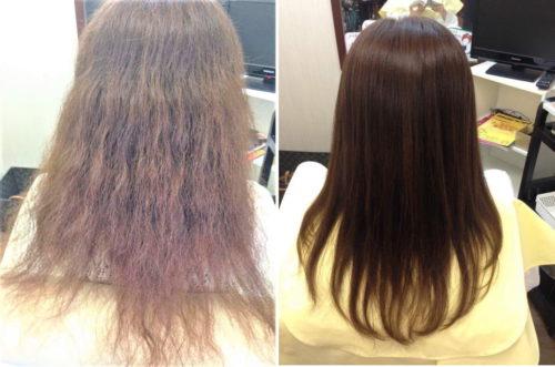 ヌースフイット製 スピエラ&GMT酸性縮毛矯正施術結果