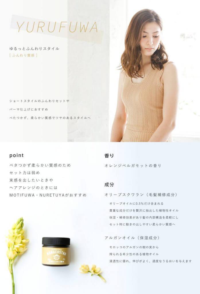 yurufuwa nanacostar-wax